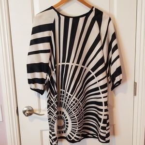 Bb Dakota black and white printed dress
